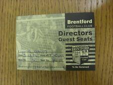 Billete De 03/12/1996: Notts County Brentford V [directores invitados Asientos] (agujero básico