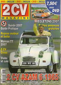 2CV MAGAZINE 57 CITROEN 2CV AZAM 6 1966 REPOSE DU GROUPE MOTOTRACTEUR MORVAN TT