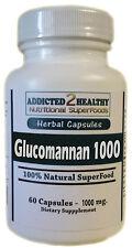 Glucomannan 1000 (Konjac Root) 60 Capsules - Feel Full, Eat Less + Lose Weight