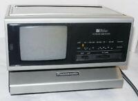 1982 SPACE AGE  PANASONIC AM/FM DIGITAL CLOCK RADIO WITH B&W TV! WORKS! BiSider!