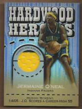 2005-06 Topps Chrome Hardwood Heroics Refractors #JO Jermaine O'Neal Jersey /99