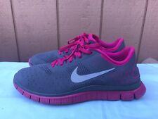EUC Nike Free Run 4.0 V2 Women's Gray Pink Running Shoes Size US 9 511527 006 A2