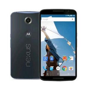 "Motorola Nexus 6 GSM Unlocked 64GB 13MP 5.96"" 4G LTE Smartphone Midnight Blue QC"
