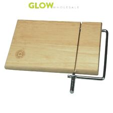 CHEESE BOARD WITH SLICER KITCHEN PARTY SERVING TRAY WOODEN PLATE & WIRE CUTTER