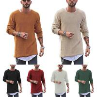 Mens Sweatshirt Knitted Sweater Pullover Jumper Crew Neck Long Sleeve Knitwear