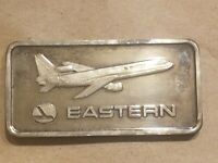 1975 Eastern Airlines 1 Ounce Silver Art Bar One oz .999 fine Airplane VERY RARE