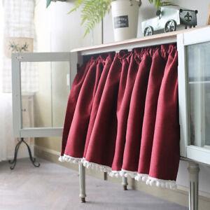 Kitchen Doorway Door Cabinet Short Blackout Curtains Window Cafe Drapes 130*60cm