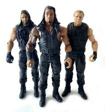 The Shield WWE Mattel Basic Action Figures Lot Set Roman Reigns Ambrose Rollins