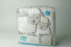 Carter's Child Of Mine Lamb Knit Quilt Sheep Bedding gr1