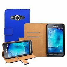 Wallet BLUE New High Quality Case Cover For Samsung Galaxy Xcover 3 (SM-G388F)