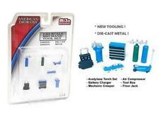 Mechanic Tool Set Blue 1:64 Scale 6 Pcs American Diorama 38405