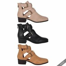 Block Ankle Solid Zip Women's Boots