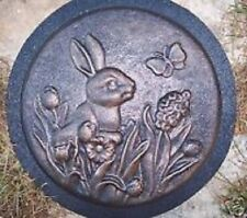 "Rabbit stepping stone mold  reusable 1/8th"" abs plastic mold"