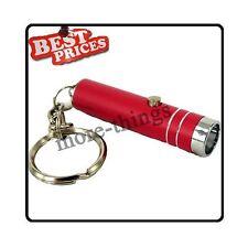 Rouge Mini 1 poche LED lumineux lampe torche avec porte-clés + Batteries
