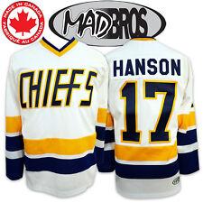Hanson Brothers CHIEFS Hockey Jersey *SlapShot Movie Licensed* *Made in Canada*