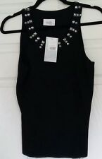 Wallis size 14 petite Black Top With Beading