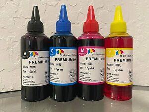 Refill ink kit for Brother MFC-J1205W MFC-J1205W XL MFC-J1215 printers 4x100ml