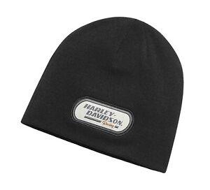 Harley-Davidson Men's H-D Racing Knit Hat, Black 98618-20VM