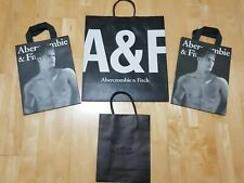 4 x Abercrombie & Fitch Gift Shopping Display Bags Blue 39 x 35.5 cm Small large