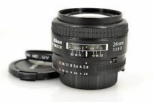 Near MINT Nikon AF NIKKOR 24mm f/2.8 D with 52mm filter from Japan