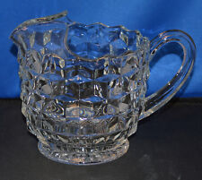 """Excellent Fostoria American 6 1/4"""" Ice Lipped Pitcher 38 ounces - Very Nice"""