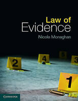 Law of Evidence by Monaghan, Nicola (Coventry University) (Paperback book, 2015)