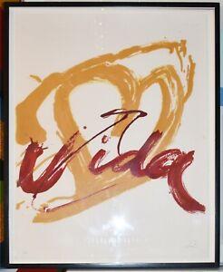"Listed Spanish Artist ANTONI TAPIES, Original Signed Lithograph ""Vida"" 1985"