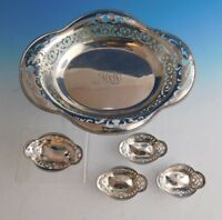 Tiffany & Co. Sterling Silver Nut Set 5pc Bowl and Nut Cups (#2229)
