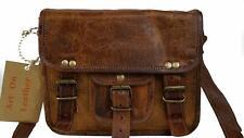 "9"" Women Vintage Brown Voguish Leather Messenger Cross Body Bag Handmade Purse"