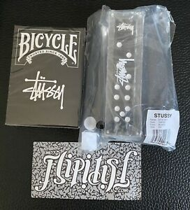 NEW LOT STUSSY DICE SET BICYCLE PLAYING CARDS CASINO LIMITED EDITION RARE VTG