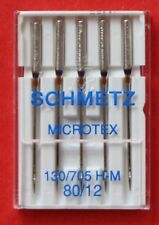 Schmetz, MICROTEX SHARP, needles pkt of 5 ... 80/12