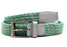 Adidas Mens Fabric Braided Belt Green Grey Size M/L