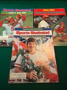 1975 Sports Illustrated Cincinnati Reds World Series Cover Lot
