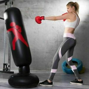Free Standing Boxing Target PUNCH BAG Heavy Duty Kick Martial Arts Stand Adults