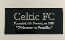"""Celtic FC History """"Welcome to Paradise"""" - Engraved Plaque for Signed Memorabilia"""