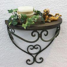 Estante de pared Consola metal 31cm 12095S con Canasta Aparador baño