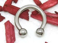 Circular barbell herradura con bala nariz oreja piercing chirugenstahl 3 x 16 x 6