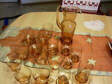 Altes Rosalin Weinset mit 3 verschiedenen Gläsersorten Dekor Weinreben 23 Teile