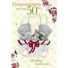 Me To You 50th Wedding Anniversary Card - Congratulations on your 50th