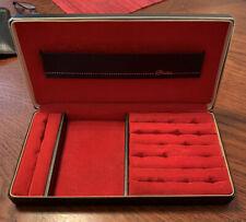 Vtg Shields Mens Jewelry Cufflink Box Valet Travel Hard Case Mid Century