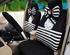 18psset Hello Kitty Cute Cartoon Car Seat Covers 3d Mesh Universal Black Tl-47k