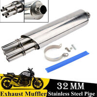 32mm Universal Stainless Steel Moto ATV silencieux d'échappement Silencieux Pipe