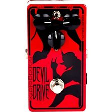 SolidGoldFX Devil Drive Jeff Waters Signature Overdrive Guitar Effect Pedal Red