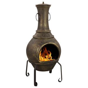 Maldonado Cast Iron Chiminea Firepits & Chimineas Bronze PRE-ORDER MID OCTOBER