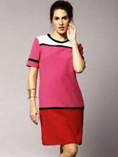 M&S Collection Colour Block Tunic Dress Pink Mix Colour Size UK14 Regular BNWT