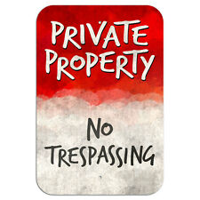 "No Trespassing Private Property Novelty Metal Sign 6"" x 9"""