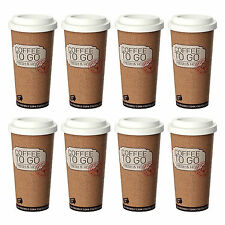 Life Story Corky Cup 16 oz Reusable Insulated Travel Mug Coffee Thermos (8 Pack)