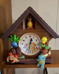 Rare Pokemon Wall Clock Lovely Cabin Vintage 1999