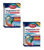 2x Pack Abtei Magnesium 500 Tablets Dietary Supplement with Vitamin B  *GERMANY*