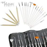 Elixir  20pcs Nail Art Design Painting Dotting Pen Brushes Tool  Set / Nail Kit